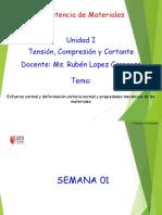 ESFUERZO, TRACCION Y COMPRESION - Resitencia de Materiales