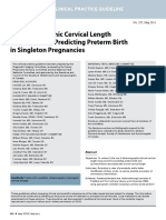 Ultrasonographic Cervical Length Assessment in Predicting Preterm Birth