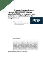 Os Relatórios de Desenvolvimento Humano (REZENDE)