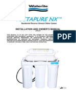 Vectapure NX Owners Manual for Encapsulated Membrane System