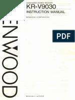 Kenwood KR-V9030 Receiver Instruction Manual