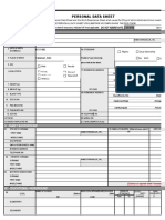 CS Form No. 212 Revised Personal Data Sheet 2 Blank Form