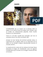 Faraon Tutankamón