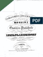 FRONTESPIECE of OP 28 Variations Concertantes Sur Un Thème Original de Rossini CHIT E PIANOFORTE