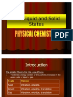 The Liquid and Solid States (Physical Chemistry)