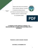Ensayo La Manipulacion Genetica Humana y Su Regulacion en El Derecho Penal 26112016