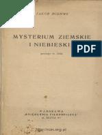 Böhme Jakob - Mysterium ziemskie i niebieskie