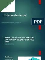 METODĂ DE COBORÂRE A PÂNZEI DE APĂ FREATICĂ UTILIZÂND DRENURILE SIFON