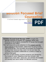 Solution Focused Brief Counseling