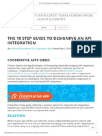 The 10 Step Guide to Designing an API Integration