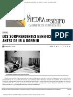 Los Sorprendentes Beneficios de Leer Antes de Ir a Dormir - La Piedra de Sísifo