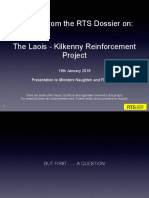 Presentation to Ministers for Issue of Laois-Kilkenny Reinforcement Project Jan.18.18