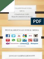 Penyalahgunaan Sosial Media