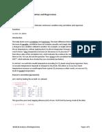 R Help 6 Correlation and Regression