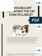 Is Vocabulary Important for Cat Exam Syllabus