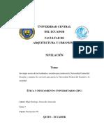 Facultades y escudos de la UCE.