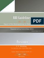 Gopalakrishna Committee Report Summary Presentation
