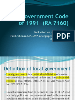 Local Government Code of 1991 [Updated]