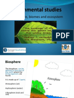 biosphere biomes and enviromental studies