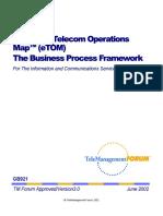 ETOM - The Business Process Framework 3.0 - 2002