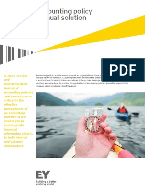EY Accounting policy manual | Business Process | Internal