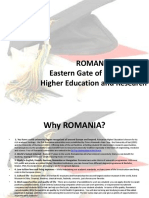 Romanian Higher Education System