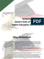 Romanian Higher Education System