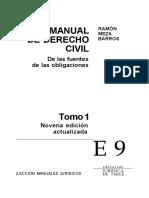 De Las Fuentes de Las Obligaciones - LOS CONTRATOS en GENERAL (TOMO I) - R. Meza Barros