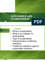 Sustainable and Its Mesurment