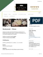 Kähler Villa Dining | Bedste restaurant menu i Aarhus
