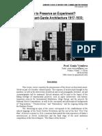 A6793_2013_3 Soviet Avant-Garde Architecture 1917 to 1933 - Vytuleva