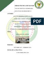 Informe de Bioquimica Lipidos 2