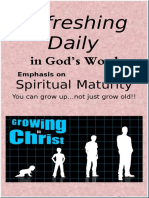 "Emphasis on ""Spiritual Maturity""  February 2018"