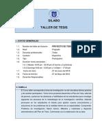 Silabos Del Taller de Tesis -2018-Enero