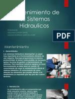 Mantenimiento de Los Sistemas Hidraulicos