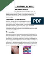 Flujo Vaginal Blanco