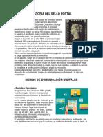 Historia Del Sello Postal