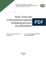 Ing. Vlad GHIORGHICĂ - Neue Arten der Unternehmensorganisation im Gründungsprozess der Gesellschaften