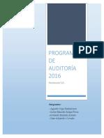 Programa de Auditoría Homecare-s.a.
