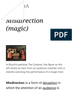 Misdirection (Magic) - Wikipedia