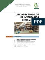 Unidad 4 Modelos de Inventarios Deterministas