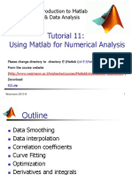 Introduction to Matlab Tutorial 11
