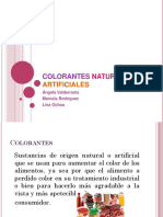 Colorantes Naturales y Artificiales