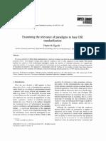 Examining the relevance on paradigms to base OSI standardization