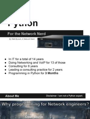 Python for the Network Nerd | Python (Programming Language