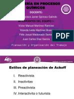 Estilos de Planeacion de Ackoff