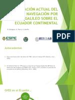 Situación Actual del Sistema de Navegación por Satélite GALILEO sobre el Ecuador Continental