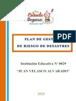 Del Plan de Gestion y de Conting. 2015