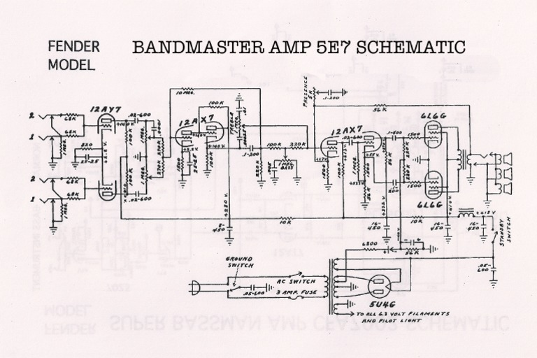 Bandmaster-5E7-Schematic.pdf Bandmaster Schematic on peavey reverb schematic, piping and instrumentation diagram, champ schematic, 5e3 schematic, twin reverb schematic, one-line diagram, technical drawing, functional flow block diagram, tube map, bassman schematic, circuit diagram, super reverb schematic, block diagram,