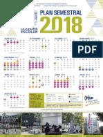 Calendario semestral 2018